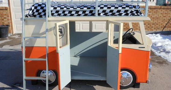 Cool idea for a kids room :) The Micro-Bus Bunk Bed |
