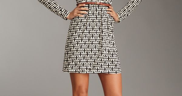 Cute patterned wrap dress