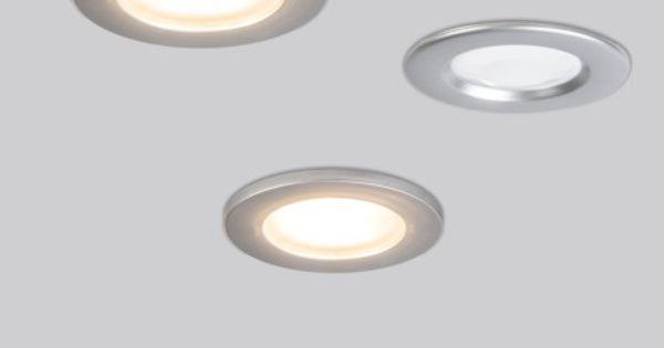 Einbaustrahler pluto pir fix 3er set titan einbaustrahler for Plexiglas beistelltisch 3er set