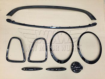 Wmw Complete Black Trim Kit For Gen 2 R56 R57 R58 R59 Mini Cooper S If You Want To Dechrome And Imp Mini Cooper Accessories Mini Cooper Models Mini Cooper R56