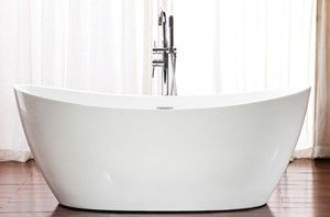 A Freestanding Beauty Perfect For The Smaller Bathroom Small 60 X 32 Double Slipper N Free Standing Bath Tub Freestanding Tub Faucet Small Freestanding Tub
