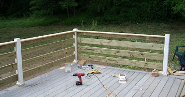 Pool Deck Fencing Ideas deck bench railing visit more deck railing ideas httpawoodrailingcom Horizontal Deck Railing Designs Rounding The Bend One Last Section To Go