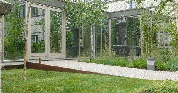 Olvg amsterdam aanleg nieuwe tuin van het ziekenhuis corten stalen rand langs het pad onze - Terras rand idee ...