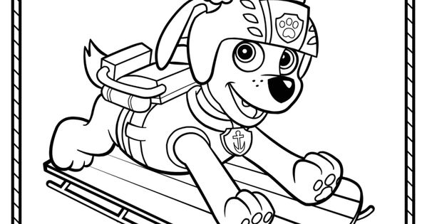 Paw Patrol Winter Coloring Pages : Paw patrol winter rescues plus a coloring page