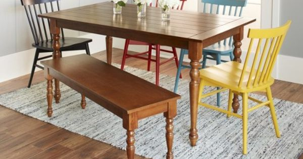 Threshold Brimfield Turned Leg Dining Table 300 00