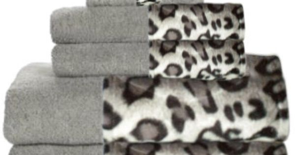 Snow Leopard Grey Bordering Africa Bath Towels 11 00 27 00 Sale 10 00 24 00 Animal Print Bathroom Leopard Bathroom Decor Leopard Bathroom