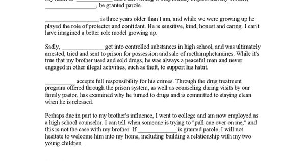 Search Engine - Image - Character Reference Letter For Parole