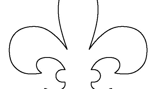 Invaluable image regarding fleur de lis printable