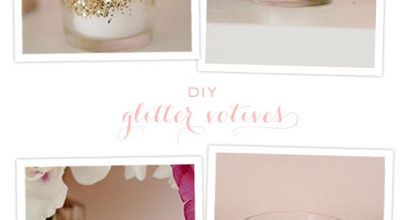 DIY glitter votives