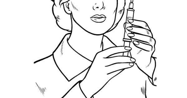 23 Nurse Coloring Pages Nurse-coloring-10 – Free