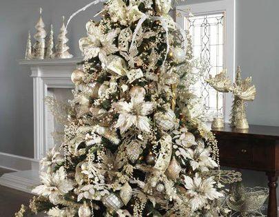 Beautiful white Christmas tree decorations | Christmas Decor