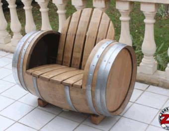 Fabrication d\'une chaise barrique bois,jardin,extérieur ...