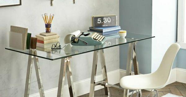 le plateau de bureau en verre pour votre office la maison bureaux bureaux et. Black Bedroom Furniture Sets. Home Design Ideas