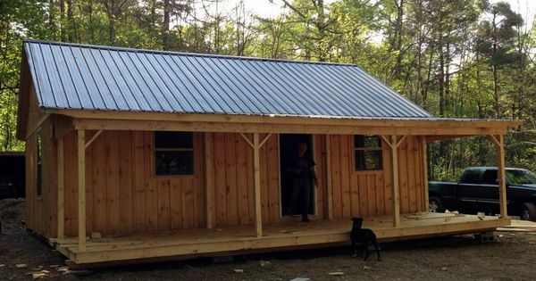 Best 20 X 30 Cabin With 8 Porch Windows And Metal Roof 400 x 300