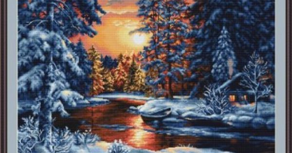 Counted Cross Stitch Kit Luca-S-Paysage d/'hiver
