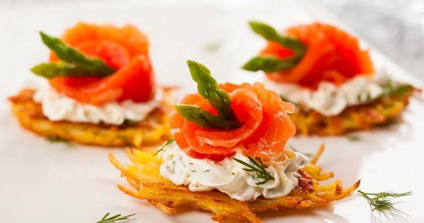 Kartoffelpuffer mit sauerrahm lachs und spargel rezept for Monsieur meuble canape mikado