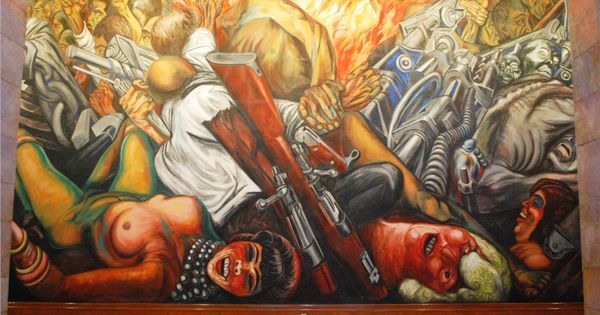 Jose clemente orozco catharsis 1934 palacio de bellas for Arte mural mexicano