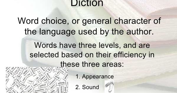 examples of  diction  literaryelements  literarytechniques