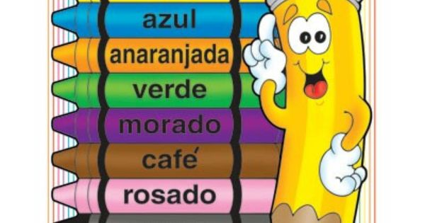 Spanish colors chart | Kids: Back to School | Pinterest ...