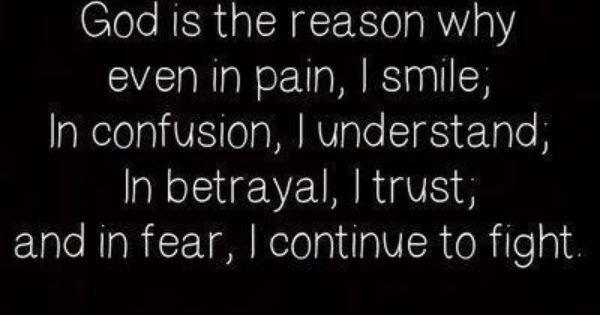 Amen Betrayal Hurts Especially: God Is The Reason Why Even In Pain, I Smile, In Confusion