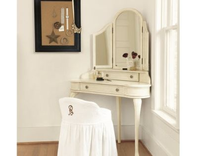 i want a classy antique looking corner makeup vanity for