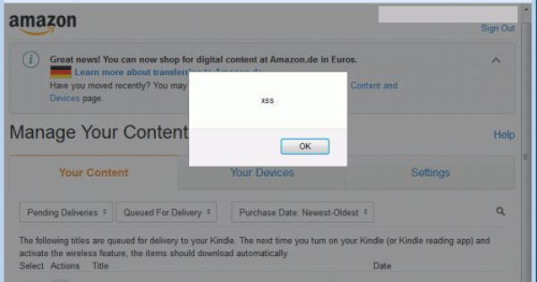 Your Amazon Account Can Be Hacked Via A Kindle Ebook The Digital Reader Digital Malicious Kindle