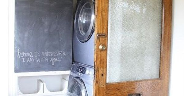 perfect sliding door for the laundry room barndoor
