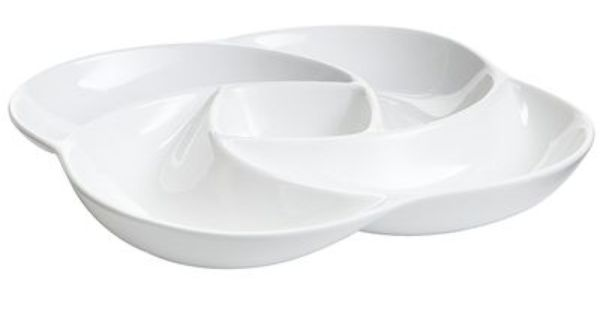 White Divided Serving Dish Divided Serving Dishes Serving Dishes White Tableware