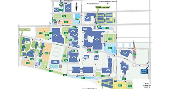 letourneau university campus map Campus Map Pennsylvania Colleges Campus Map Map letourneau university campus map