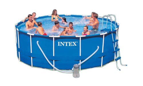 Intex 15 Foot By 48 Inch Family Size Round Metal Frame Pool Set Portable Swimming Pools Best Above Ground Pool Swimming Pool Designs