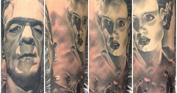 bride and frankenstein tattoos | Frankenstein and Bride ...