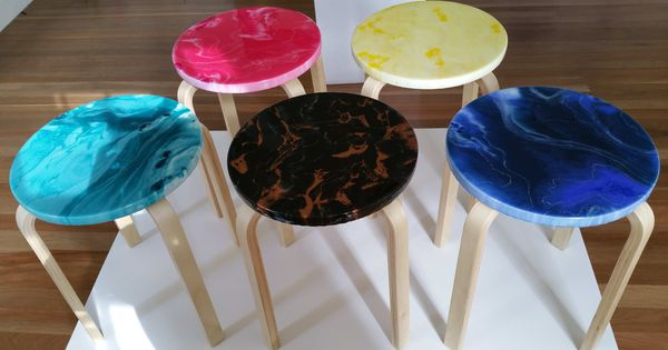 Art Classes Resin Art Stool Workshop (Ferntree Gully) by ...
