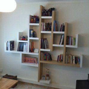 Libreria Con Mensole Ikea.Mensole Lack Trasformate In Libreria Idee Scaffale