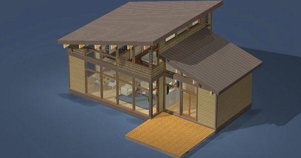 Dise o de casas de campo construidas con madera t pica for Formas de techos para casas