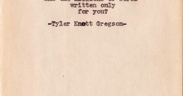 Tyler Knott poetry Takes my breath away!