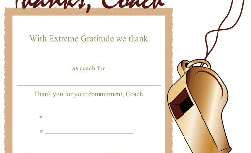 Printable certificates, Coaches and The o'jays on Pinterest
