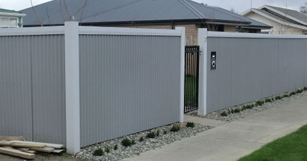 Corrugated Metal Fence Metal Fences And Fence Panels On