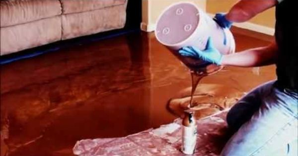 Metallic marble epoxy flooring basement floor how to for Give the floor