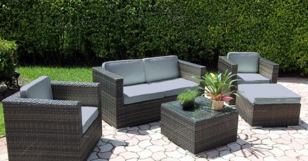 Phenomenal Bellini Wicker Deep Seating Conversation Set Conversation Uwap Interior Chair Design Uwaporg