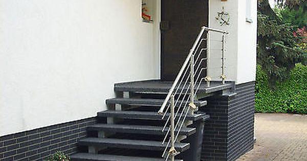 Details zu treppe aussen haus eingang podest naturstein granit ...