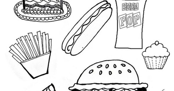 coloring pages of junk food - photo#26