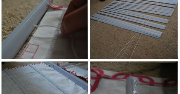 Such a clear & simple walk-through...no sewing required! DIY Roman Shades--could I