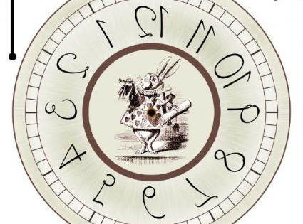 alice in wonderland clock clipart - photo #17