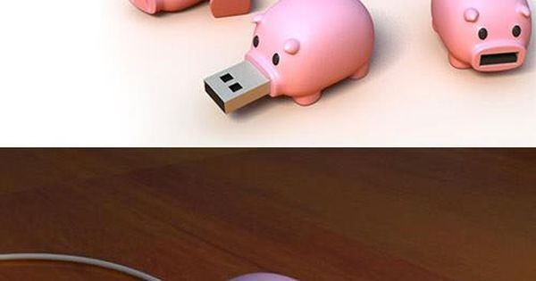 Cute piggy USB port