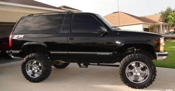 98 Chevrolet Tahoe Lt 4x4 Chevy Tahoe Lifted Trucks Chevy Trucks