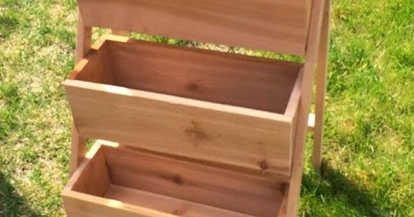 Ana White | Build a $10 Cedar Tiered Flower Planter or Herb