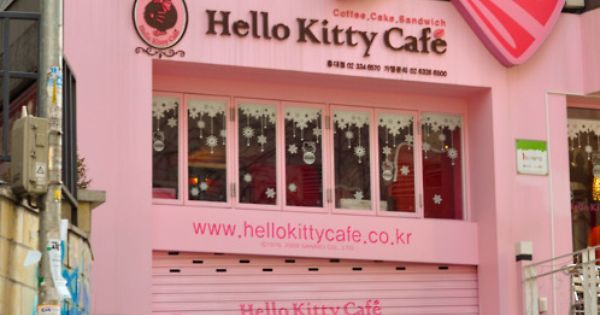 Cafe Hello Kitty en Seul.