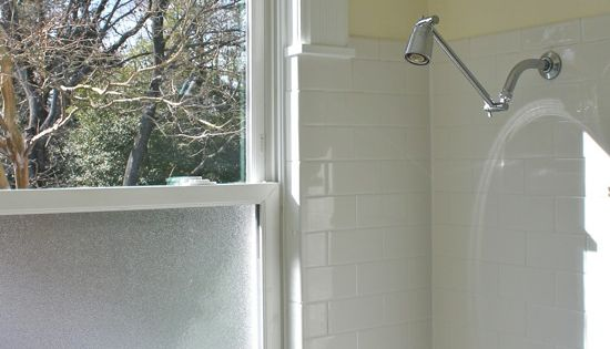 Solution To The Large Window In The Shower Simple Diy