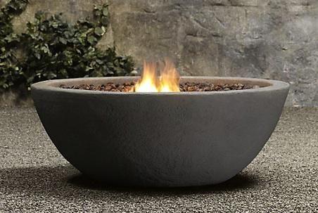 Lava Rock Propane Fire Bowl Remodelista Cool Fire Pits Fire