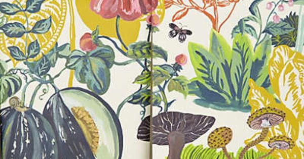 Great meadow mural murals anthropologie and products for Anthropologie wallpaper mural